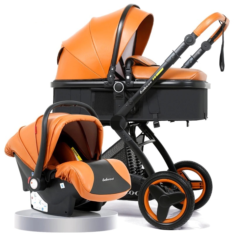 Luxury Baby Stroller 3 in 1 Travel System with Infant Car ...